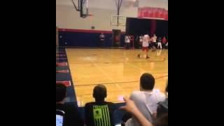 Jay Huff Breaking the Glass With A Monster Dunk!