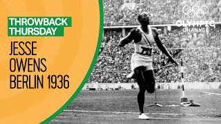 Jesse Owens' Historic Wins at the Berlin 1936 Olympics | Throwback Thursday