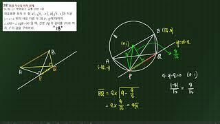고등수학 상 기출풀이 도형의방정식 보충문제37번(201…