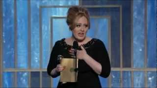 Adele wins the Golden Globe for Best Original Song for Skyfall