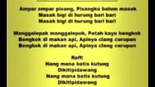 Lagu Tradisional Ampar Ampar Pisang Kalimantan Selatan