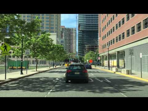 Driving Downtown - The Waterfront - Jersey City New Jersey USA