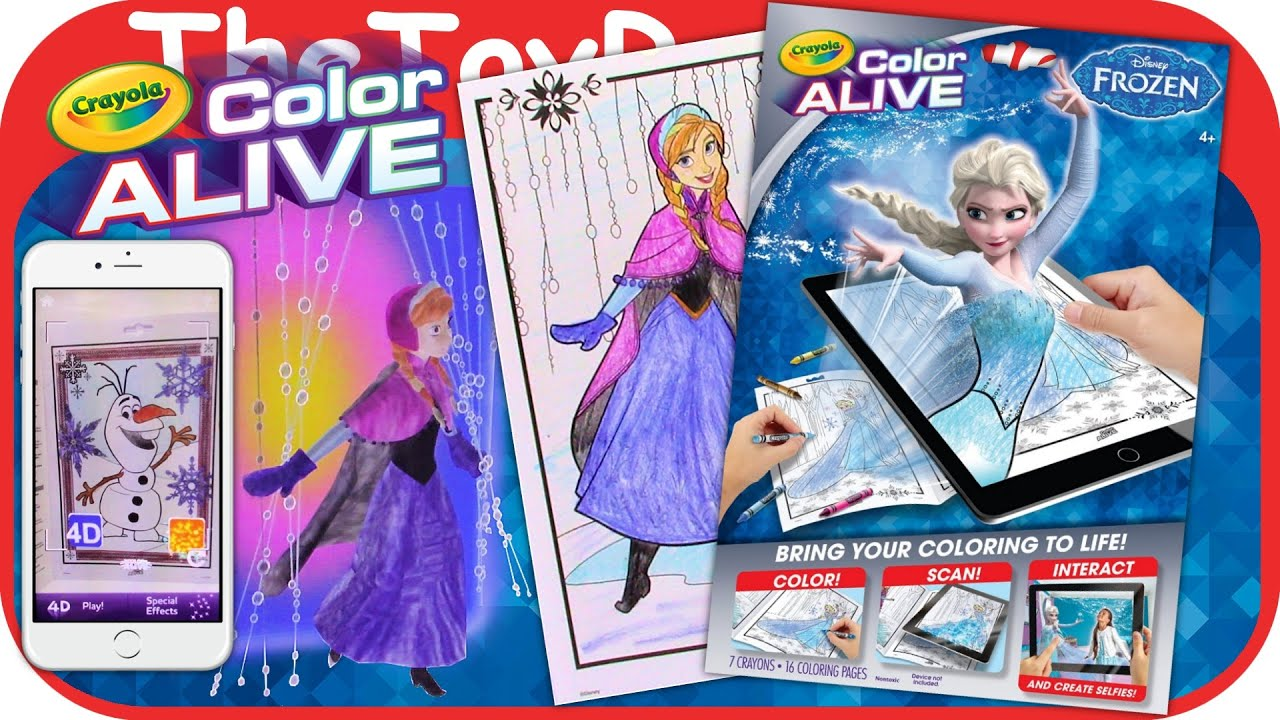 Disney\'s Frozen Crayola Color Alive Action Coloring Pages Unboxing ...