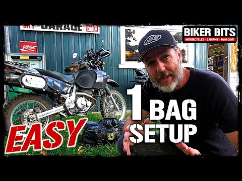 Motorcycle Camping Easy 1 Bag Setup