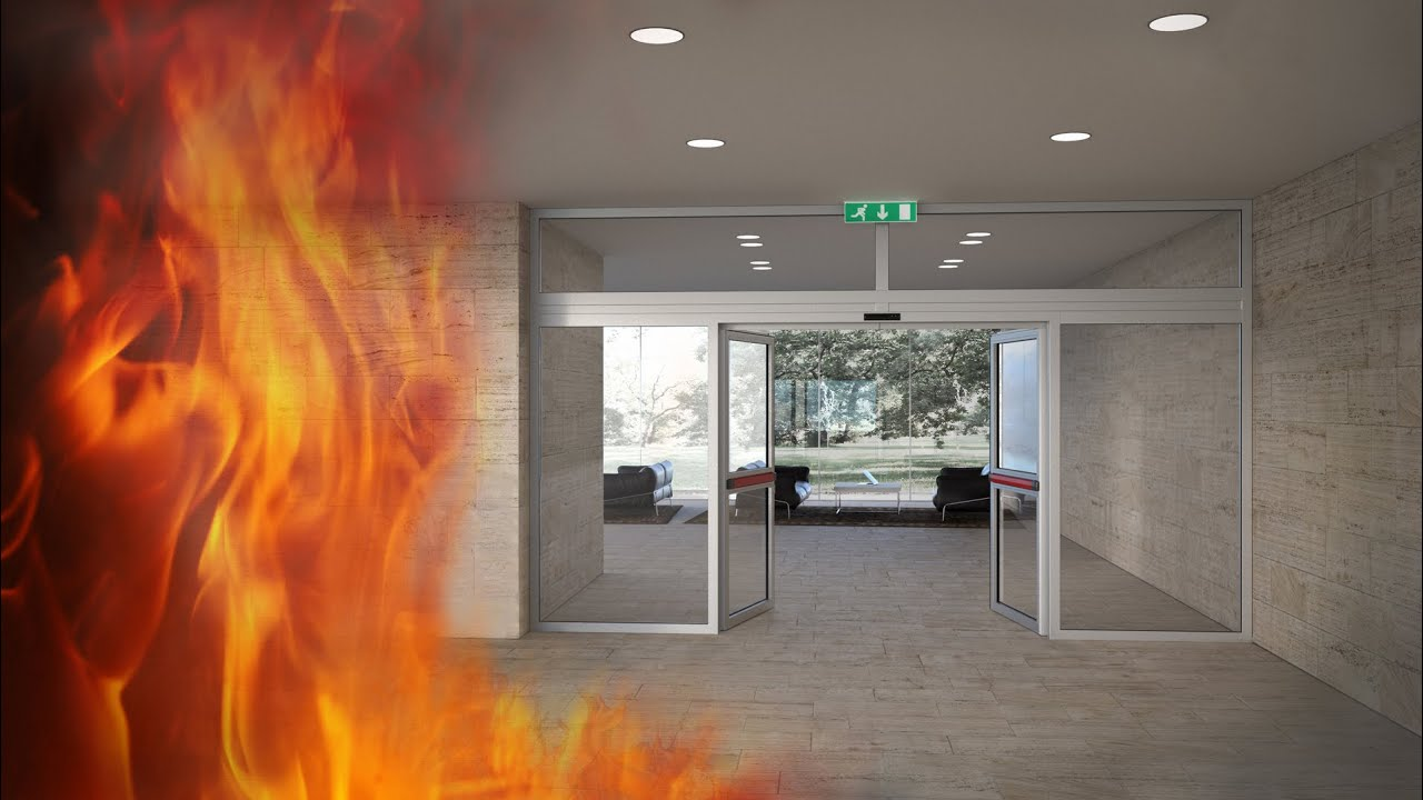 Fire Resistant Automatic Sliding Doors Doorson Youtube