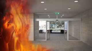Fire resistant automatic sliding doors - Doorson