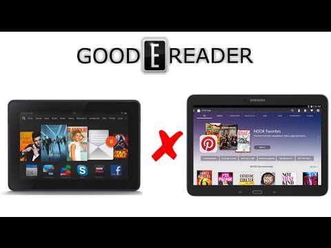 Samsung Galaxy Tab 4 Nook 10.1 vs Amazon Fire HDX 8.9