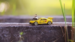 How To Make Miniature Photo Effect Using Simple Toy Car (Photoshop)