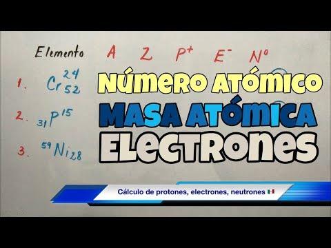 Número Atómico Y Masa Atómica (protones Y Electrones)