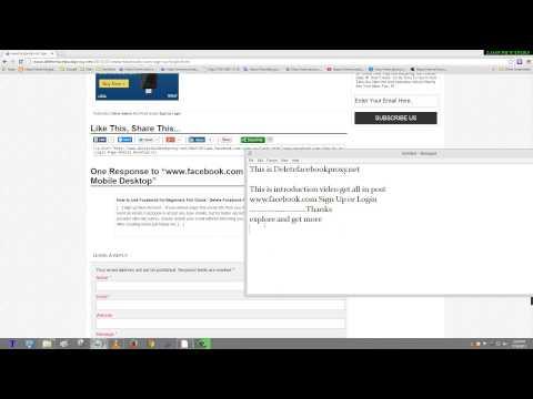 www.facebook.com Sign Up or Login Page Mobile Desktop