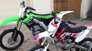 Dirt bike 140 CRZ (2016) & KAWASAKI 450 KXF revs