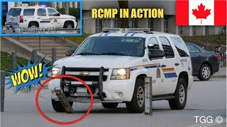 RCMP Supervisor Knocks Down Barrier + Responding on UBC Campus [Vancouver]