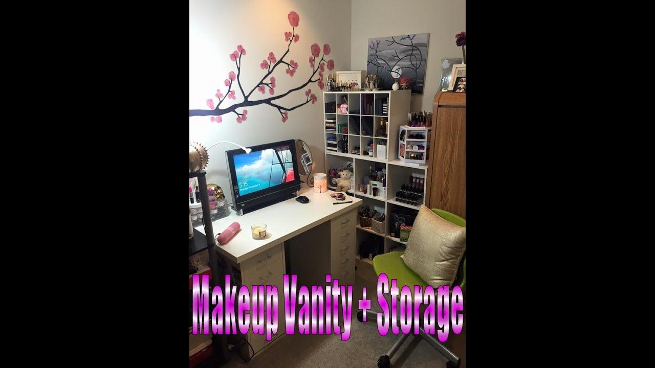 Ikea and target makeup vanity storage youtube for Target makeup vanity