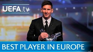 Lionel Messi wins UEFA Best Player in Europe Award