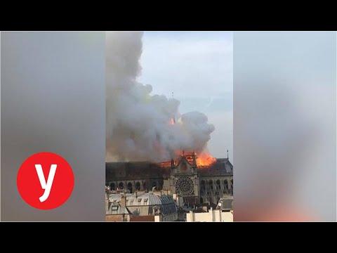 שריפה בקתדרלת נוטרדם בפריז