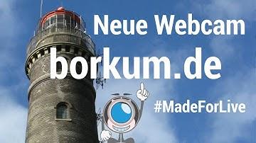 Neue PTZ Webcam in Full-HD auf Borkum aus 60 Meter Höhe.