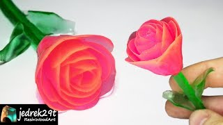 Rose from Epoxy Resin. DIY a Simple Way / ART RESIN