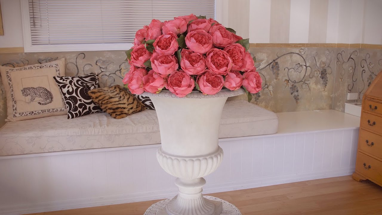 How To Arrange Peonies In An Urn Floristry Tutorial