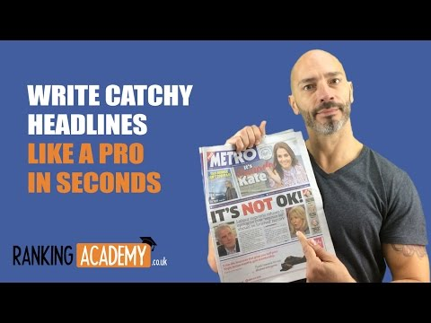 Write catchy headlines like a pro in seconds