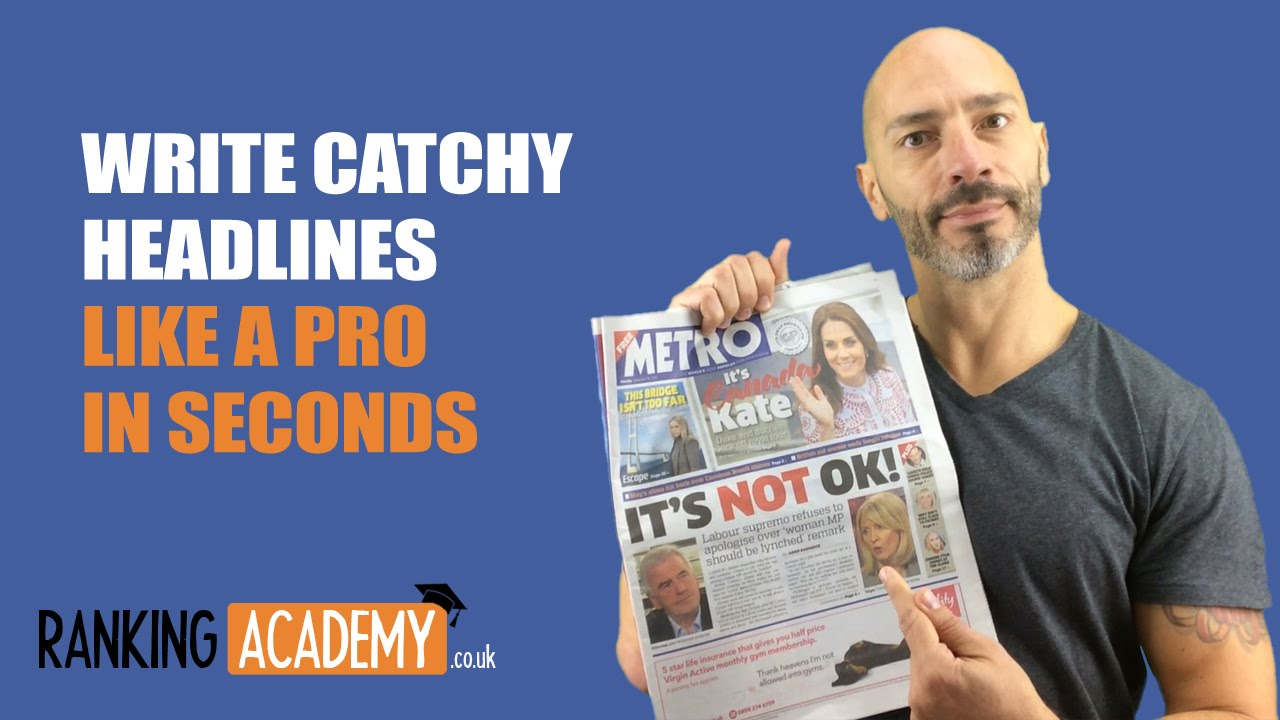 Write Catchy Headlines Like A Pro In Seconds Youtube