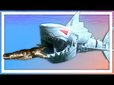 I Became A Giant Robotic Megalodon Shark  In Feed And Grow Fish