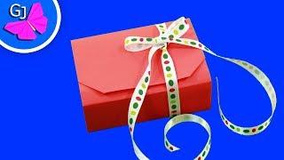 Оригами Коробочка для подарка(Оригинальная оригами Коробочка из бумаги для особого подарка. Украшенная лентой, эта бумажная поделка..., 2014-12-09T13:09:48.000Z)