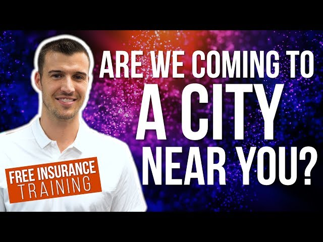 Free Insurance Training Coming To A City Near You!
