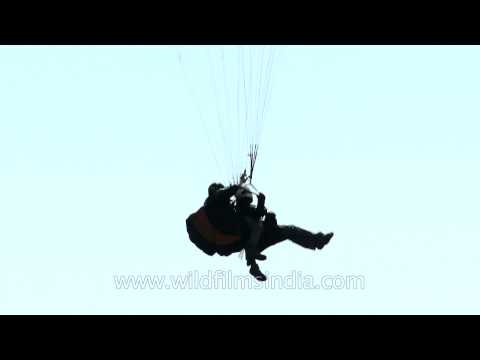Extreme sports - Para sailing in Billing, HImachal