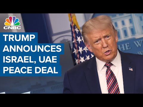 President Donald Trump Announces Peace Deal Between Israel And UAE