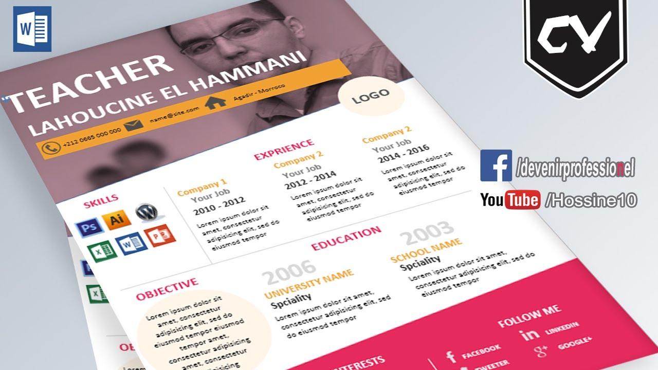 Design a Beautiful Resume in Microsoft Word - YouTube
