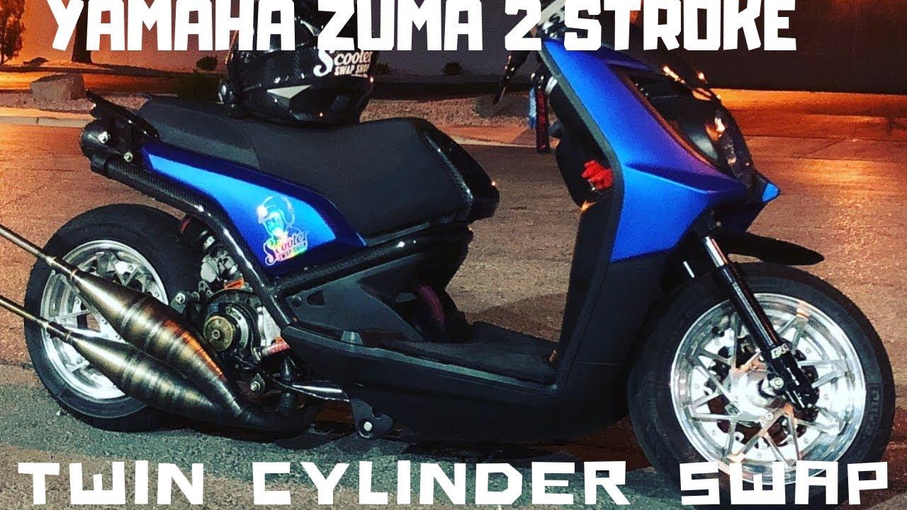 Zuma 125 2 stroke twin cylinder swap by Scooterswapshop