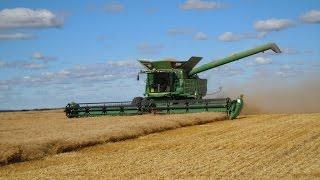Комбайн John Deere уборка урожая пшеницы(, 2014-07-25T06:42:17.000Z)