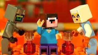 АРЕНА ЧЕРЕП 💀 Привет Сосед и ФНАФ - Лего НУБик Майнкрафт Мультики - LEGO Minecraft TOYS Animation