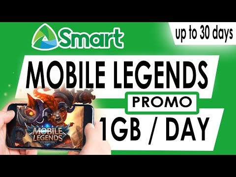 Smart Mobile Legends Or ML Promo - 1GB Per Day Also Includes AOV, COC And More