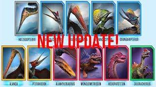 JURASSIC WORLD ALIVE HUGE UPDATE! FLIERS! 11 NEW DINOS! DINO INCENSE! PART 1: GAMEPLAY