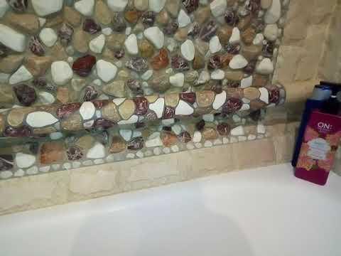 Ванная комната своими руками из гальки.