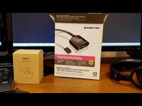 My Hackintosh, IOGear KVM Switch & Aukey 1080p Webcam