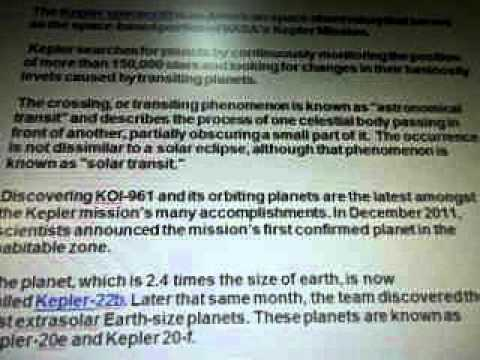 Line 17l Kepler Spacecraft Satellite Dr David Koch NASA WOW SETI