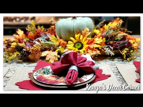 Fall Kitchen Island Decorate With Me | Fall DIY & Decor Challenge 2019 | How To Style Kitchen