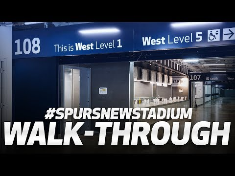 👀 WALK INSIDE SPURS NEW STADIUM!