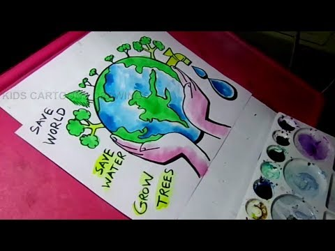how-to-draw-save-water-/-save-trees-/-save-nature-color-drawing-for-kids