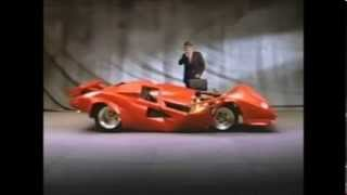 Japanese BP oil commercial with a crumpled Lamborghini Countach