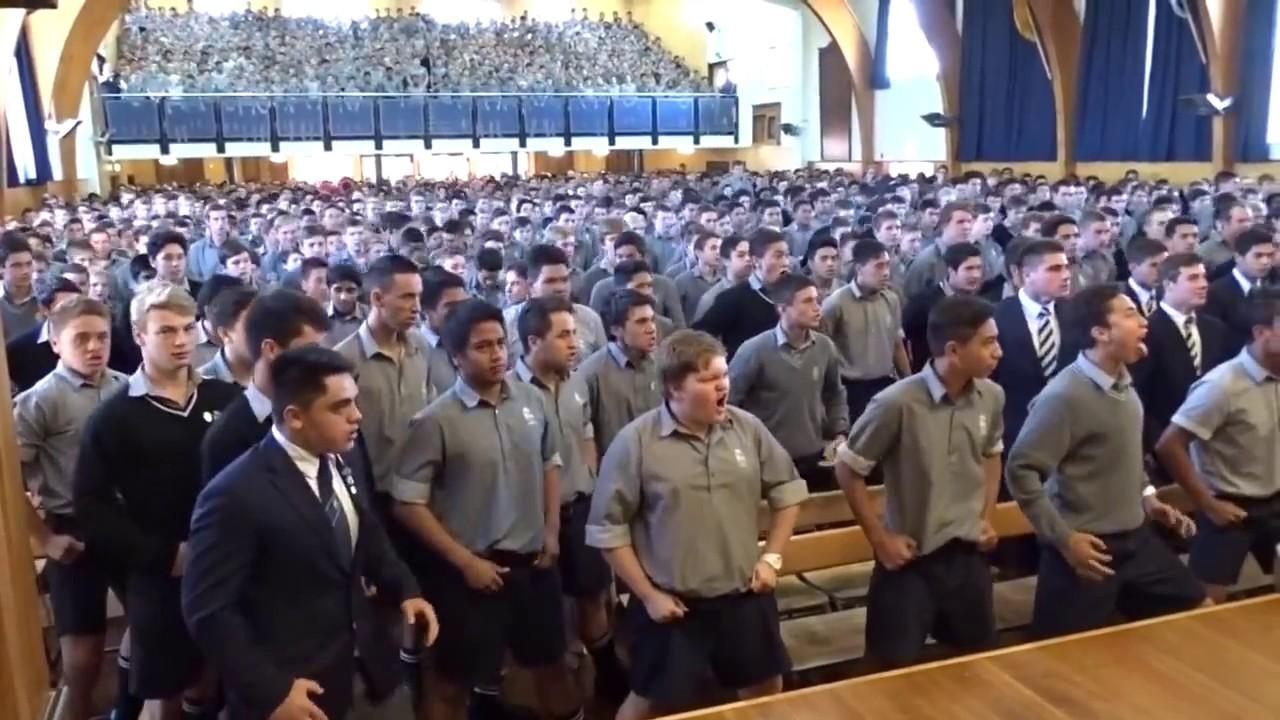 HAKA! New Zealand high school students perform Haka to their ...