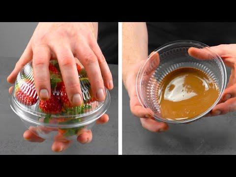Видео: Пластиковая упаковка - это не мусор, это форма для десерта