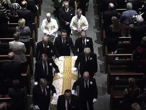 Funeral Held for Last Man to Walk on the Moon