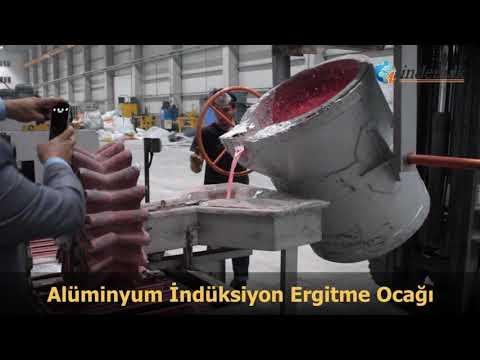 Индукционная печь ИНДЕМАК для плавки алюминиевых сплавов.