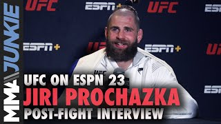Jiri Prochazka reacts to spinning elbow KO of Dominick Reyes, title shot | UFC on ESPN 23 interview