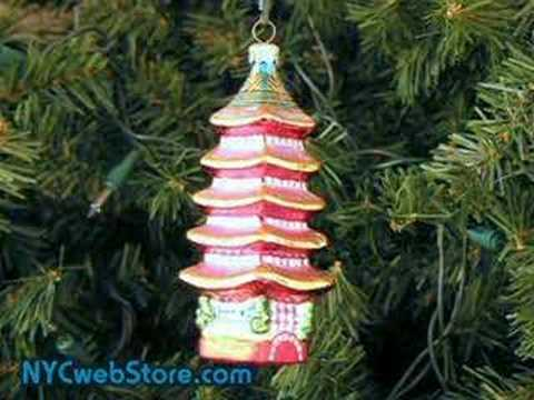Japanese Christmas Tree Ornaments.Japanese Pagoda Christmas Ornament