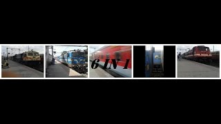 """""""6 In 1 Combo"""" : Rajdhani,Shatabdi,Freight & More High Speed Trains Shot At Valsad !"""