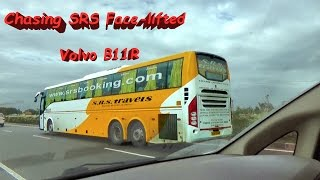 chasing srs face lifted volvo b11r 9400px on gujarat highway